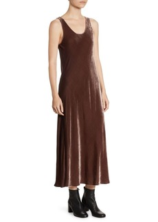 Vince Velvet Tank Midi Dress