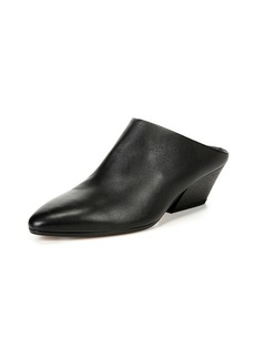 Vince Vigo Leather Block-Heel Mule
