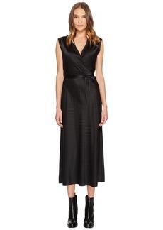 Vince Vintage Polka Dot Crossover Slip Dress