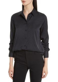 Vince Vintage Polka Dot Slim Fit Shirt