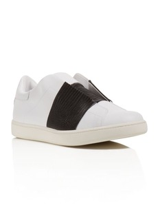 Vince Vista Embossed Stripe Laceless Sneakers