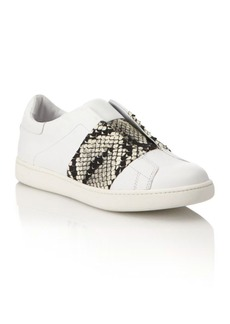Vince Vista Lizard-Print Laceless Leather Sneakers