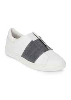 Vince Vista Slip-On Leather Sneakers