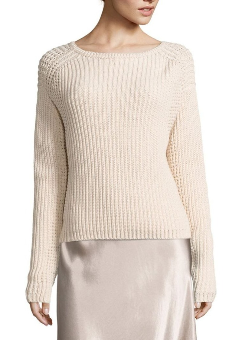 Vince Waffle-Knit Cotton Pullover