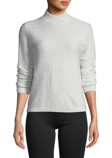 Vince Waffle-Knit Mock-Neck Wool-Cashmere Sweater