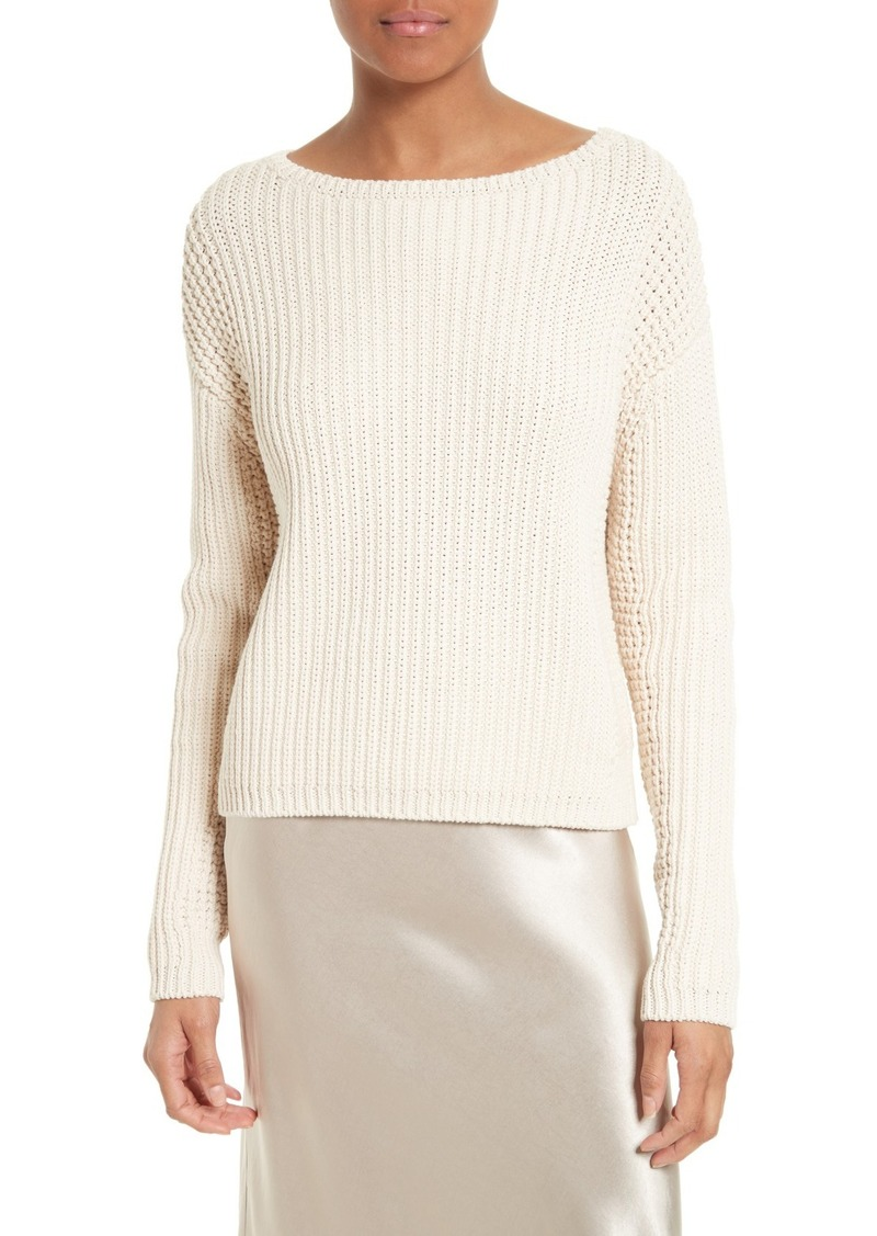 Vince Vince Waffle Stitch Cotton Sweater   Sweaters - Shop It To Me