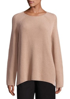 Vince Waffle Stitch Cotton Crew Pullover