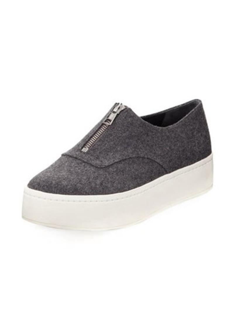 3da11e7605e Vince Vince Warner Zip-Front Flannel Platform Sneaker