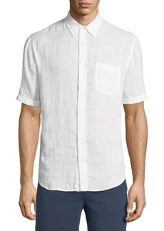 Vince Washed Linen Short-Sleeve Sport Shirt