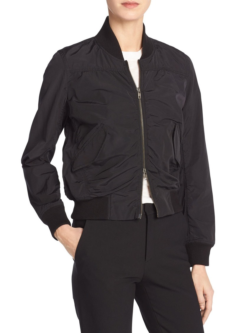 Vince Washed Shrunken Bomber Jacket