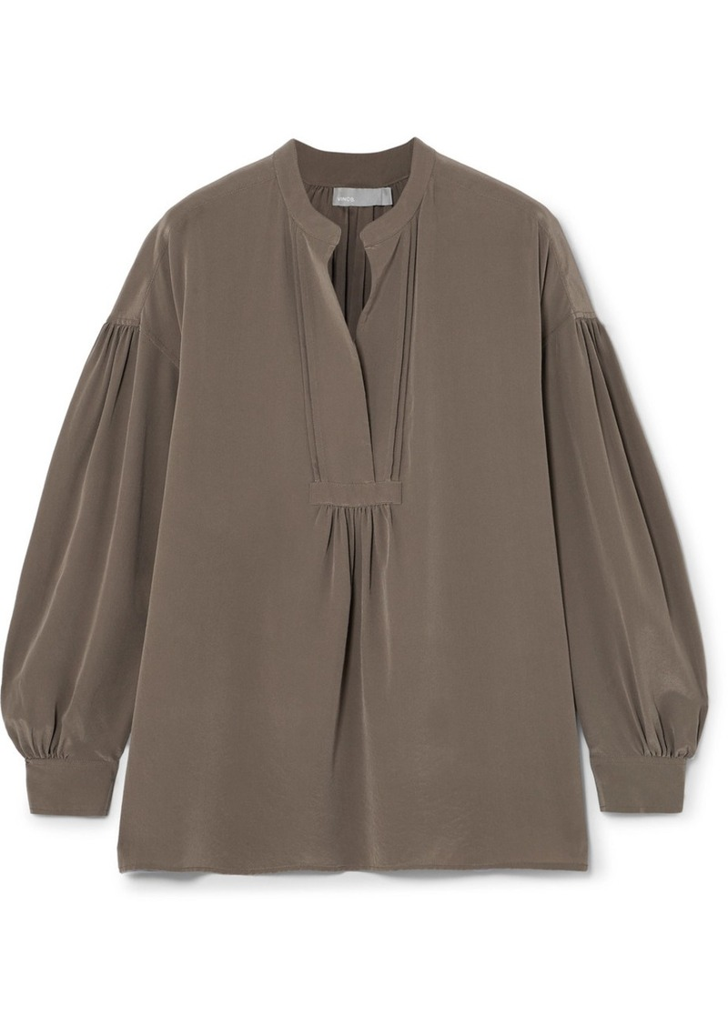 0720729f9a1e8 Vince Washed-silk blouse