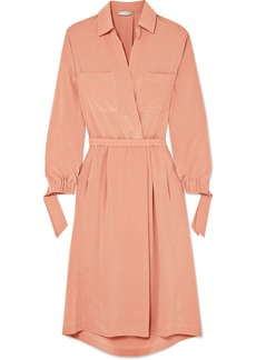 Vince Washed-silk Shirt Dress