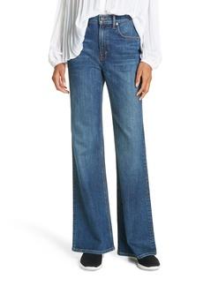 Vince Wide Flare Leg Jeans (True Vintage Wash)