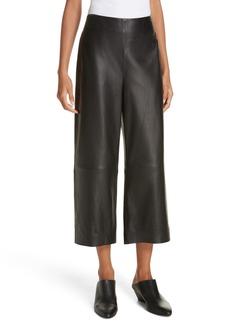 Vince Wide Leg Crop Leather Pants