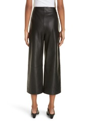 Vince Wide Leg Crop Leather Pants