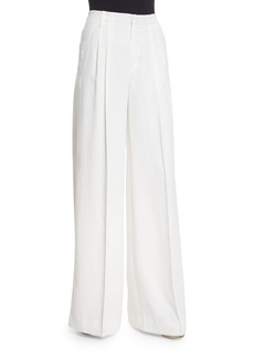 Vince Wide-Leg Pleated Trousers