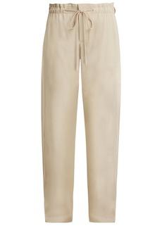 Vince Wide-leg tie-waist trousers