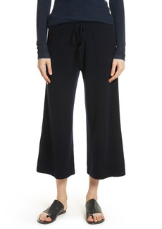 Vince Wide Leg Wool & Cashmere Knit Crop Pants