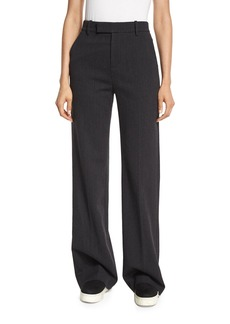 Vince Wide-Leg Wool/Cotton Trousers