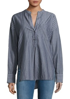 Vince Wide Striped Cotton Blouse
