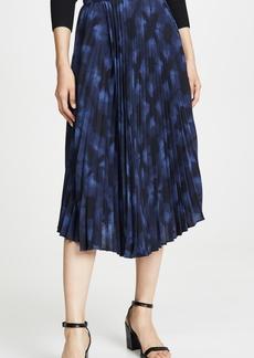 Vince Winter Tie Dye Pleated Skirt