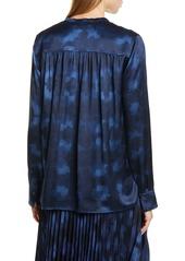 Vince Winter Tie Dye Silk Blouse