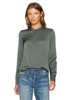 Vince Women's Band Collar Blouse