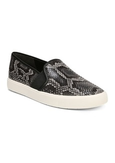 Vince Women's Blair-5 Snake-Print Leather Slip-On Sneakers