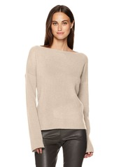 Vince Women's Boxy Boatneck Pullover LT H Marzipan XS