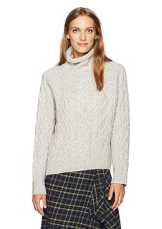Vince Women's Cable Turtleneck  L