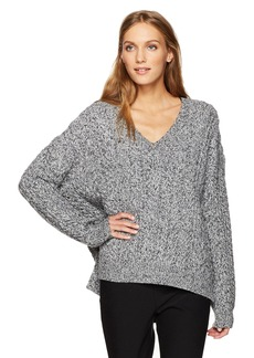Vince Women's Cable V-Neck Sweater  L