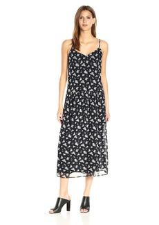 Vince Women's Calico Floral Shirred Waist Dress  L