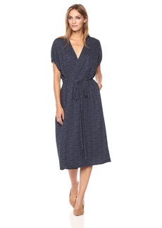 Vince Women's Celestial Polka Dot Kimono Wrap Dress  L