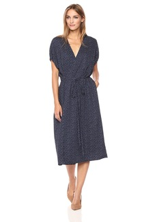 Vince Women's Celestial Polka Dot Kimono Wrap Dress  M