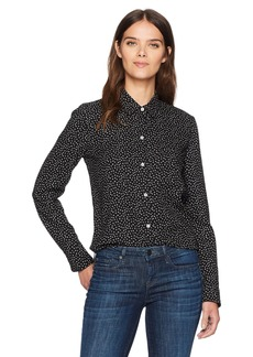 Vince Women's Celestial Polka Dot Slim Fitted Blouse  S