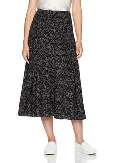 Vince Women's Celestial Polka Dot Tie Front Skirt