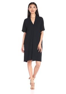 Vince Women's Crepe Elbow Slv Dbl Vee Dress