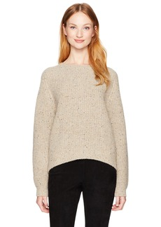 Vince Women's Cropped Saddle Pullover  L