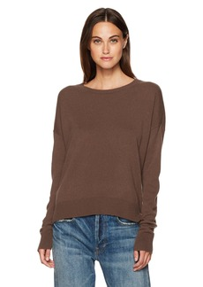 Vince Women's Cropped Wide Neck Cashmere Sweater  L