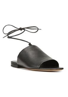 Vince Women's Damon Leather Lace Up Slide Sandals