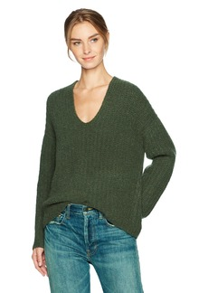 Vince Women's Deep V-Neck Pullover  XS