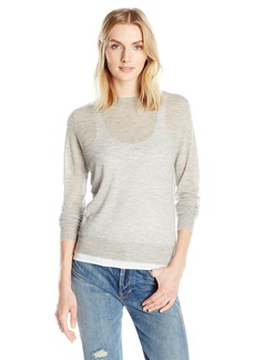 Vince Women's Distressed Trim Crew  XS