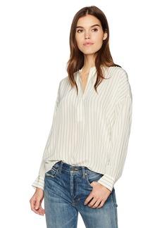 Vince Women's Double Stripe Shirred Drape Pullover  L