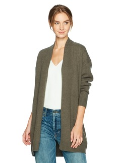 Vince Women's Drop Shoulder Cardigan deep Olive S