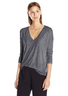 Vince Women's Drop Sleeve Deep Vee