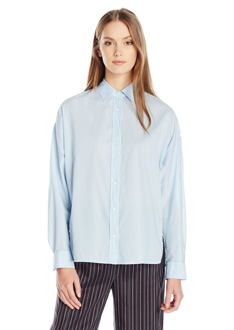 Vince vince women 39 s easy button front shirt s casual for Vince tee shirts sale
