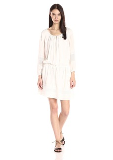 Vince Women's Embroidered Gauze Dress