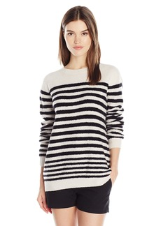 Vince Women's Engineered Striped Pullover  M