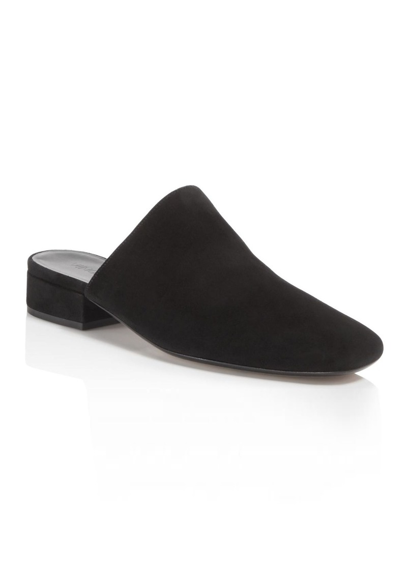 162015f15f709 Vince Vince Women's Giorgia Suede Low Heel Mules | Shoes