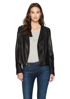 Vince Women's Leather Cross Front Jacket  S